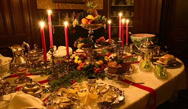 Twas The Month Before Christmas A Dinner Time