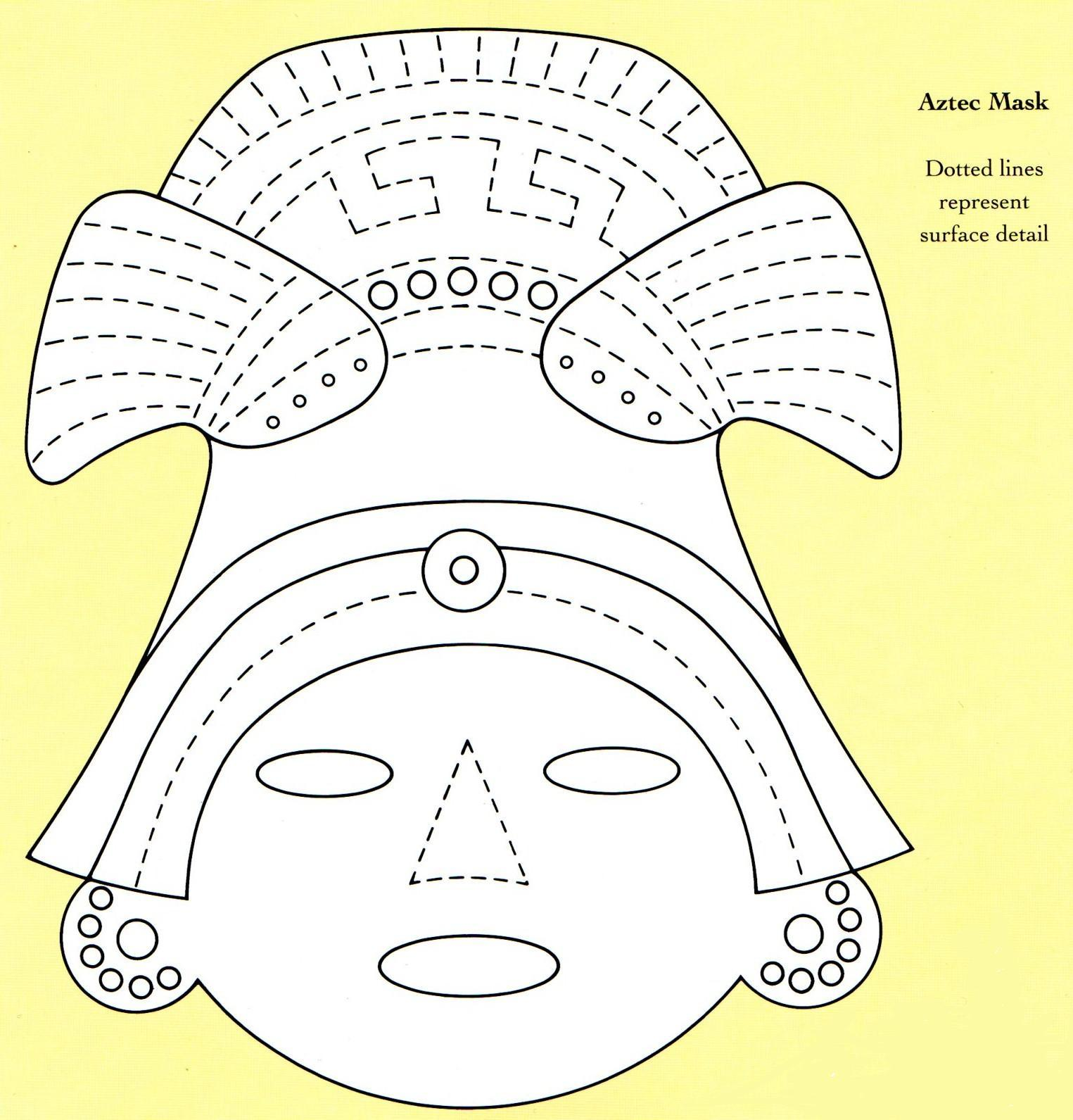 free coloring pages of aztec inca maya With aztec mask template