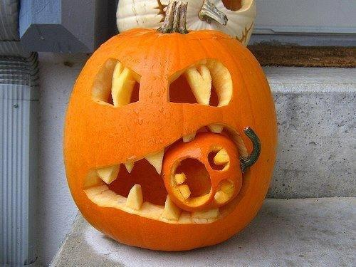 Creative carved pumpkins for halloween country