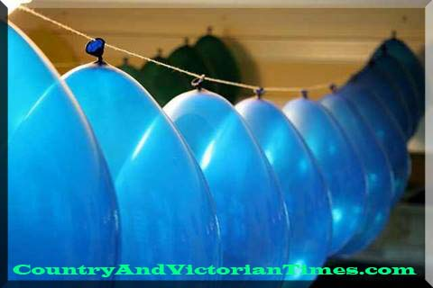 balloon balloons party decoration hanging string needle country and victorian times register
