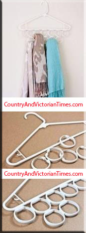 clothes hanger bath curtain shower rings scarf