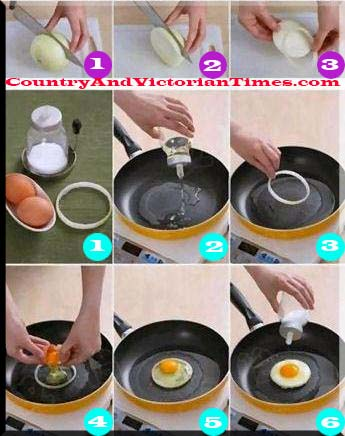 egg fry frying onion ring eggs try new way method