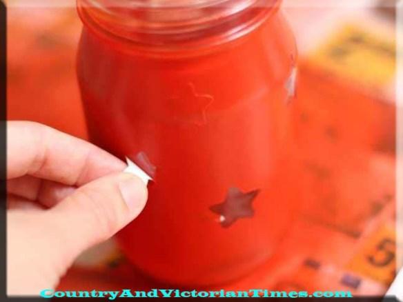 luminary light candle stars paint project craft mason jar