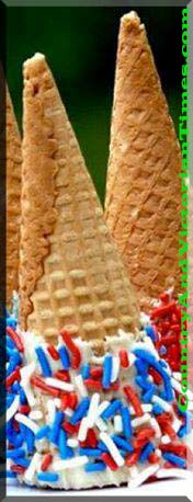 memorial day 4th of july cupcake ice cream cone chocolate sprinkles country and victorian times