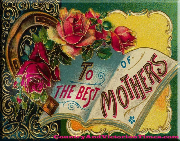 mother mother's day card victorian victoriana wish wishes well