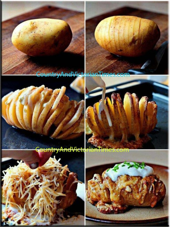 potato slice cook cheese easy bake onion
