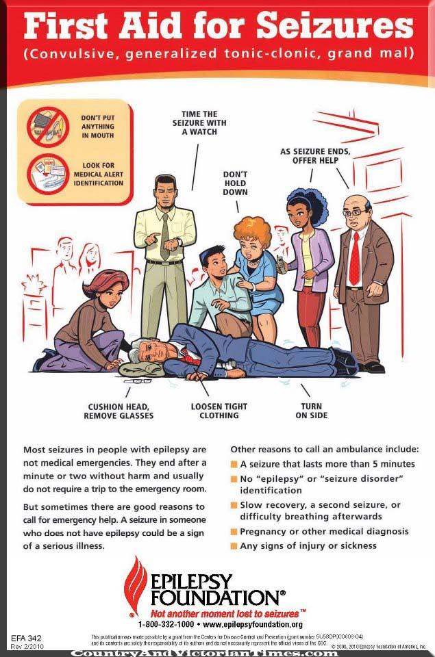 seizures first aid convulsive generalised tonic clonic grand mal watch
