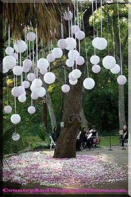 wedding decoration decorations cheap balloon tree hang budget country and victorian times