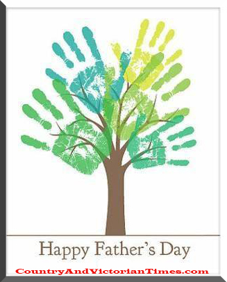 Happy Fathers Day Childs Handprint Tree | Country ...