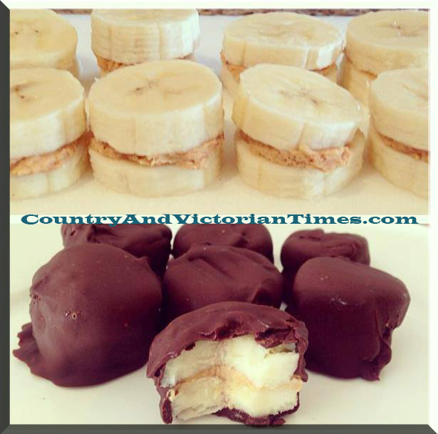 bananna chocolate peanut butter frozen snack healthy