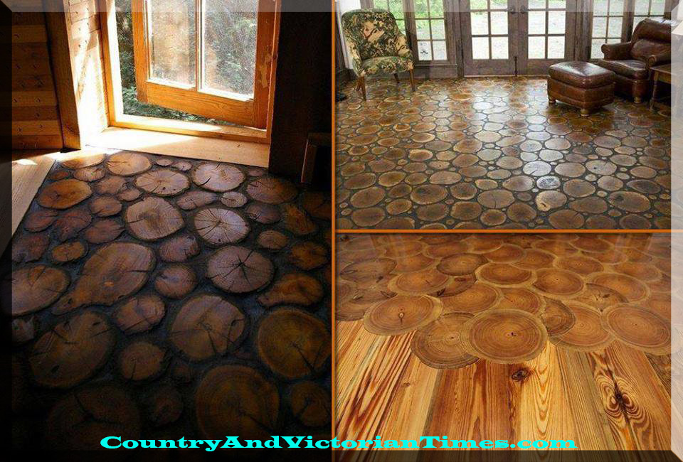 Log Slices For A Hardwood Floor Country Victorian Times