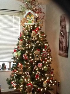 Christmas Tree Decorating Idea Gingerbread Country