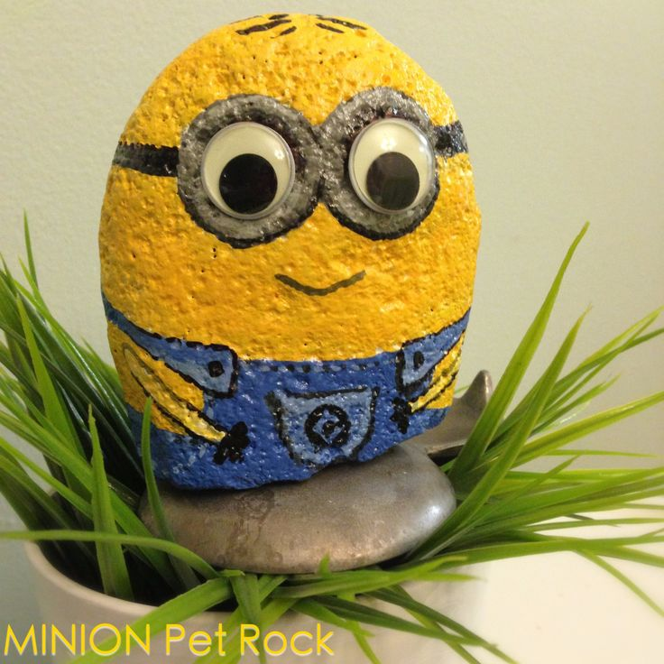 Cool Painted Rock Idea Minion