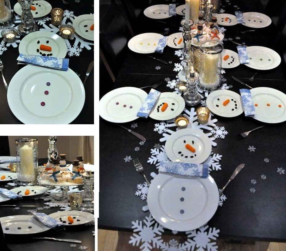 Snowman Table Setting Country Amp Victorian Times