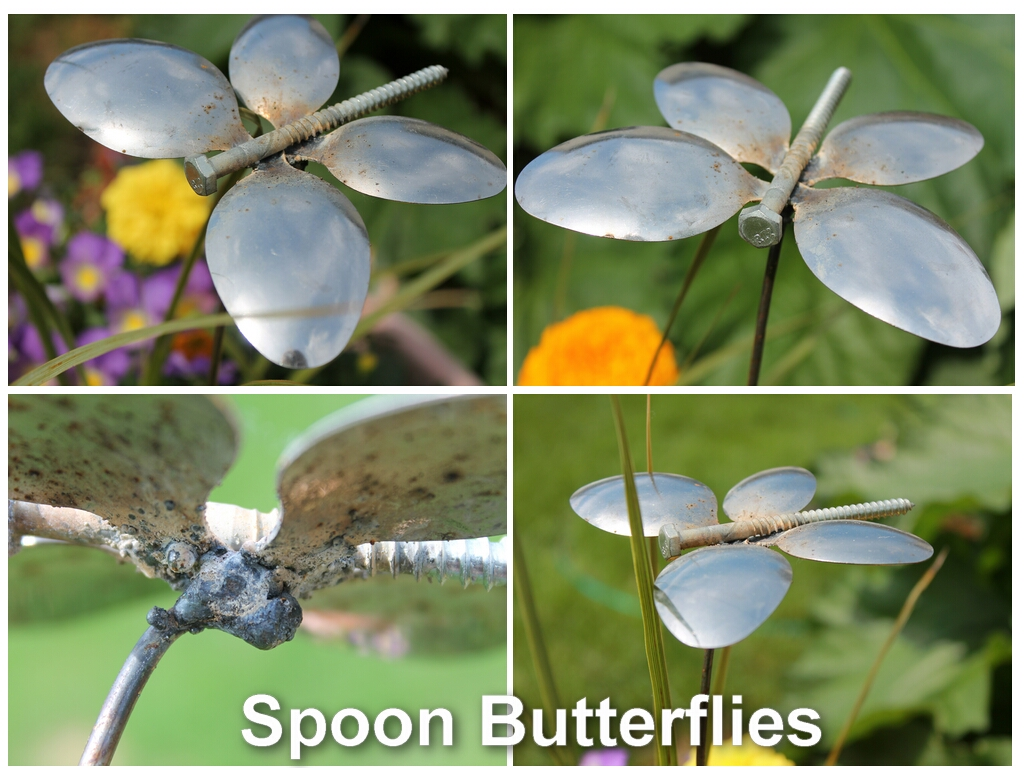 Spoon Butterfly Garden Ornament From Recycled Silverware | Country ...