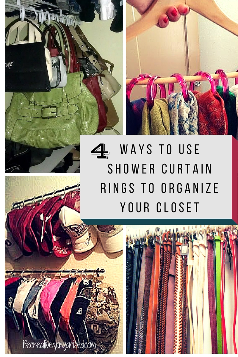 4 Ways To Use Shower Curtain Rings To Organize Your Closet