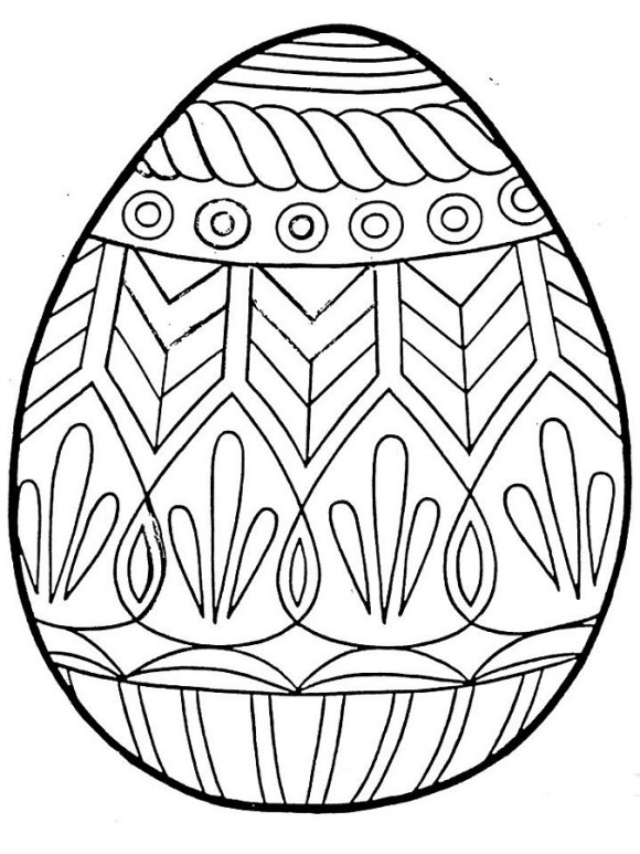 Good Awesome Easter Coloring Pages Eggs 580×773