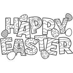 Happy Easter Coloring Pages | Country & Victorian Times