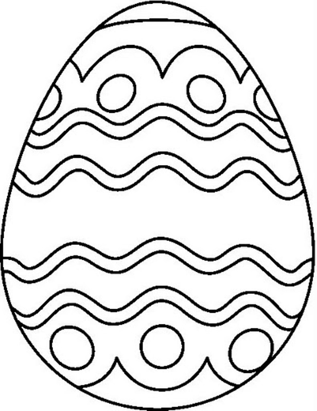 kids easter coloring pages eggs
