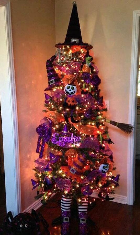 treetopia basics black tree. a halloween christmas tree in