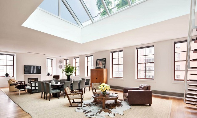 Wonderful Living Room Design Exciting Glass Ceiling Skylight Contemporary Leather
