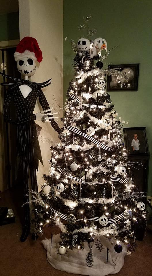 nightmare before christmas christmas tree idea country victorian times - Jack Skellington Christmas Tree